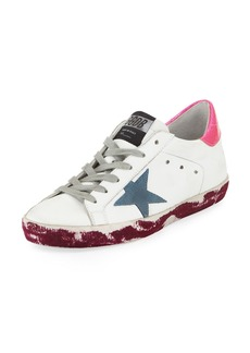 Golden Goose Superstar Paint-Platform Leather Sneaker
