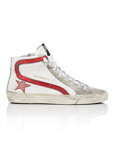 "Golden Goose Women's ""Slide"" Suede & Leather Sneakers"