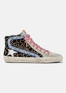"Golden Goose Women's ""Slide"" Suede & Calf Hair Sneakers"