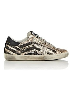 Golden Goose Women's Superstar Glitter Flag Sneakers