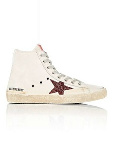 Golden Goose Women's Francy Leather & Glitter Sneakers