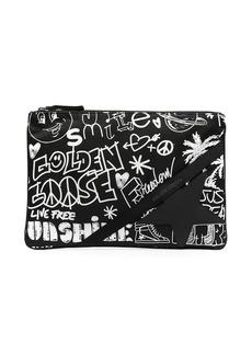 Golden Goose graffiti-print clutch bag