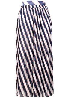 Golden Goose Hamal striped midi skirt