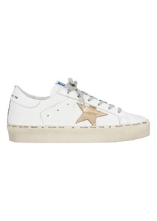 Golden Goose Hi Star Gold Leather Low-Top Sneakers