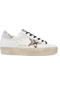 Golden Goose Hi Star Distressed Leather Platform Sneakers