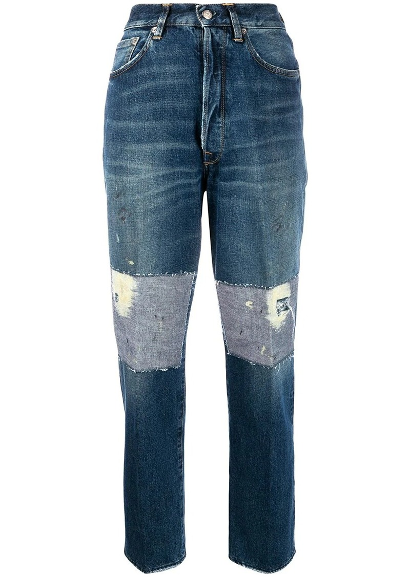 Golden Goose high rise patch detail jeans