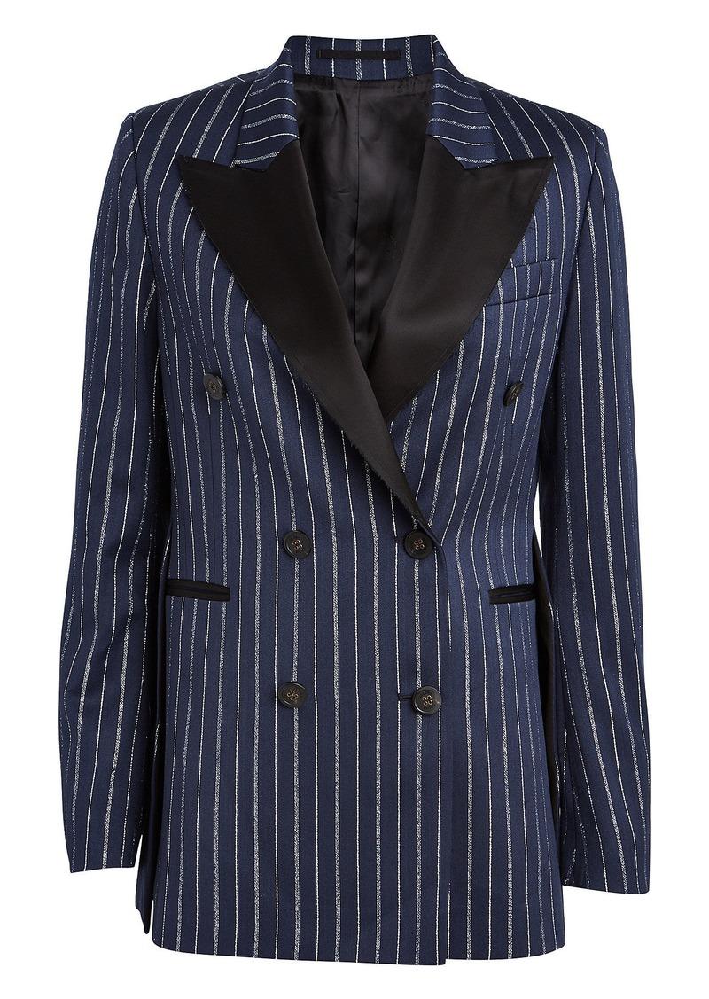 Golden Goose Himawari Lurex Striped Wool-Blend Blazer