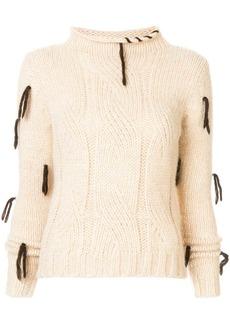 Golden Goose Hinagiko cable-knit jumper