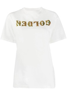 Golden Goose holographic logo print T-shirt
