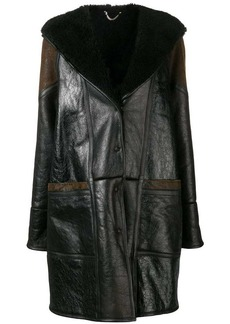 Golden Goose hooded panelled midi coat