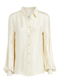 Golden Goose Isako Jacquard Crepe Button Front Blouse
