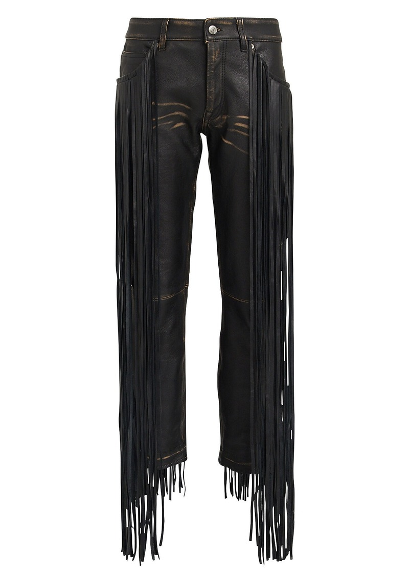Golden Goose Jolly Fringe Leather Trousers