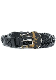 Golden Goose leopard-buckle belt