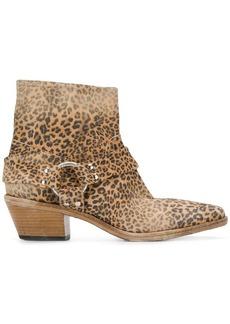 Golden Goose leopard print Western boots