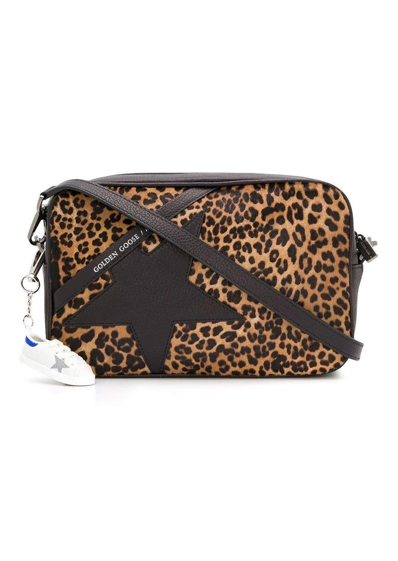 Golden Goose leopard star cross-body bag
