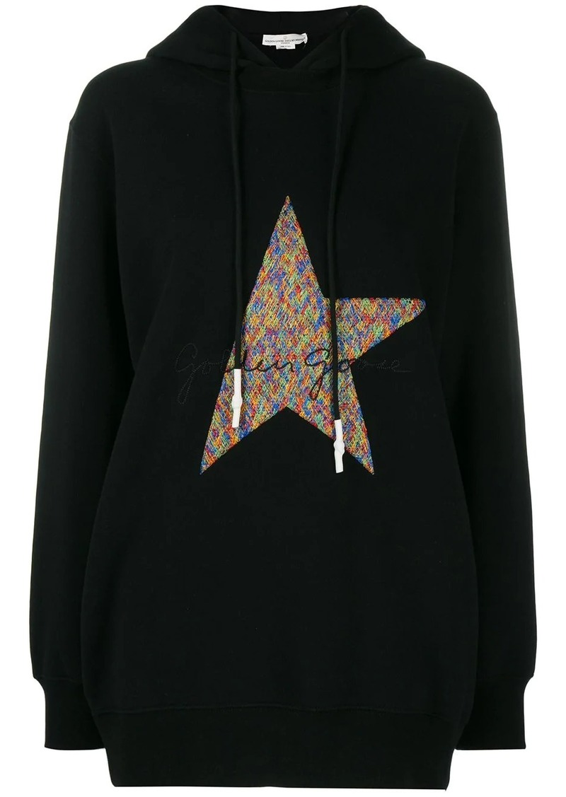 Golden Goose logo embroidered hoodie