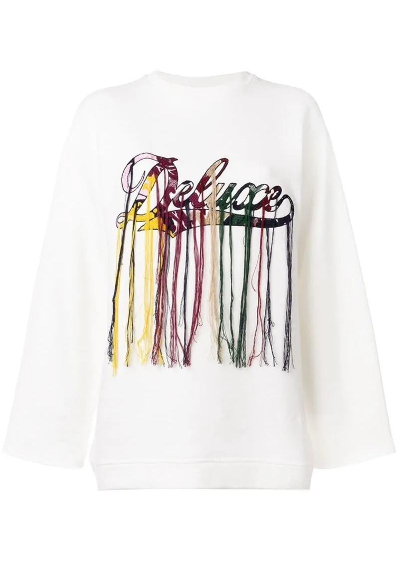 Golden Goose logo embroidered sweatshirt