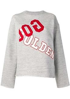 Golden Goose logo print jersey sweater