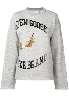 Golden Goose logo print sweater