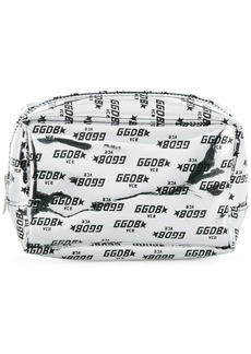 Golden Goose logo printed makeup bag