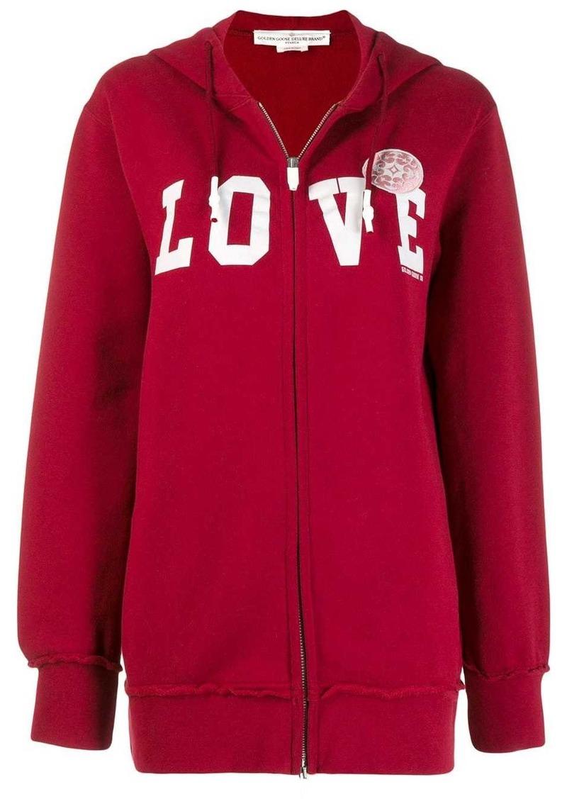 Golden Goose Love print hoodie