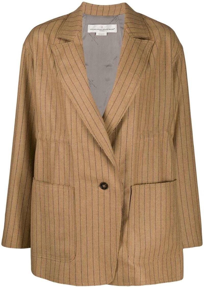 Golden Goose Matsu pinstripes oversized blazer