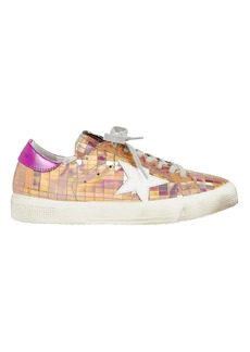 Golden Goose May Mirror Rose Gold Sneakers