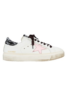 Golden Goose May Pink Star Low-Top Sneakers