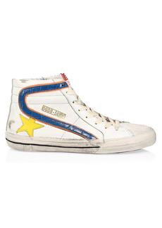 Golden Goose Men's Slide High-Top Leather Sneakers