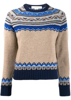 Golden Goose merino wool knitted print sweater