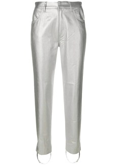 Golden Goose metallic fitted trousers
