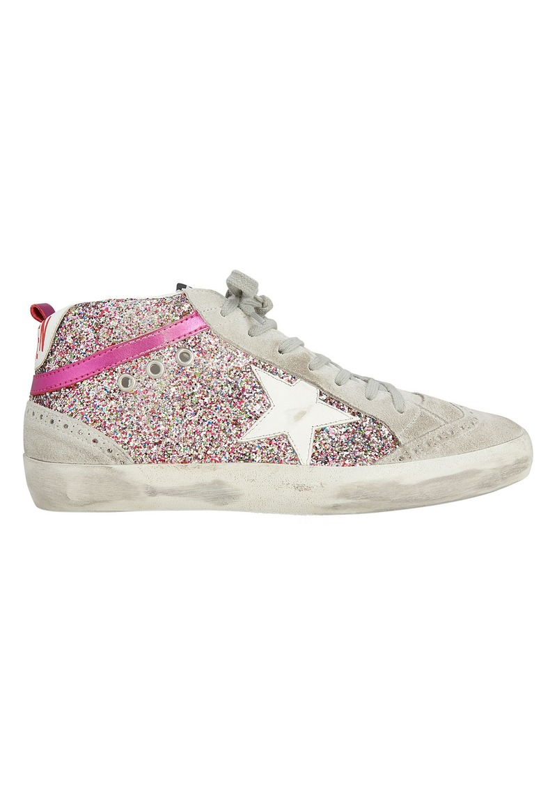 21a0e9274 Golden Goose Mid Star Rainbow Glitter Sneakers | Shoes