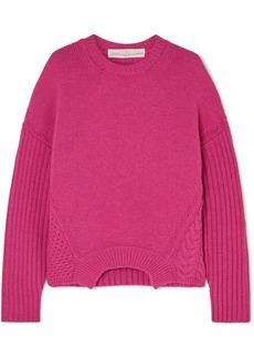 Golden Goose Momoirobara Paneled Merino Wool Sweater