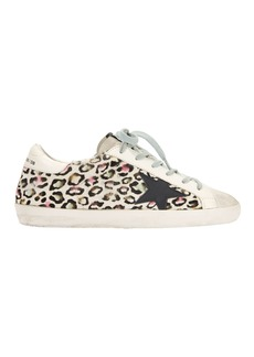 Golden Goose Superstar Animal Print Sneakers