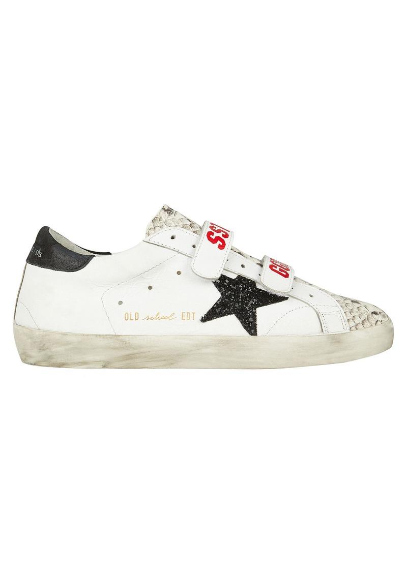 Golden Goose Old School Velcro Leather Sneakers
