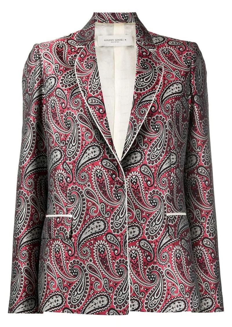 Golden Goose paisley pattern suit jacket