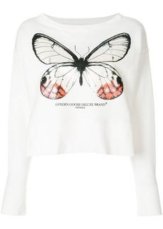 Golden Goose Pearlescent butterfly sweatshirt