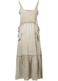 Golden Goose pinstriped maxi dress