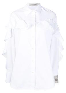 Golden Goose ruffle-trim oversized shirt