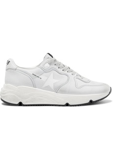 Golden Goose Running Sole Distressed Leather Sneakers