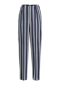 Golden Goose Sally Striped Fleece Wool Pants
