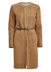 Golden Goose Sara Belted Shearling Coat