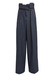 Golden Goose Sayuri Wool-Blend Pintstripe Trousers