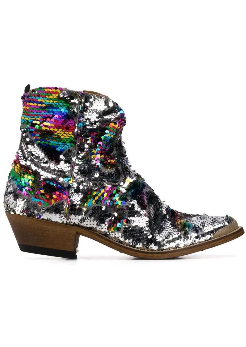 Golden Goose sequin embellished boots