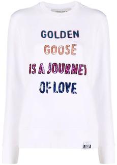 Golden Goose sequinned-slogan sweatshirt