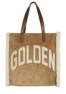 Golden Goose Shearling Logo Tote Bag