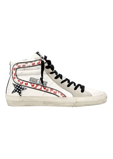 Golden Goose Slide Heart Polka Dot High-Top Sneakers