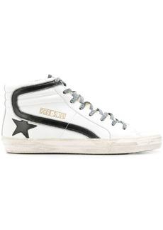 Golden Goose Slide leopard sneakers