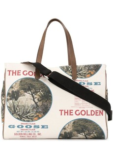 Golden Goose slogan-print California tote