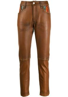 Golden Goose snake skin detail trousers